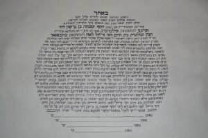 Ketubah text in circle shape