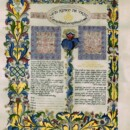 Ancient Ketubah Calligraphy